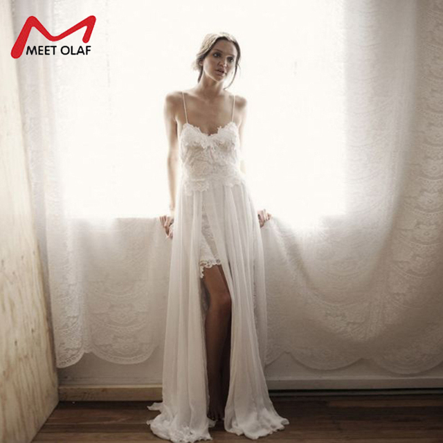 55c8b18bfc4 Dress Women Ankle-Length Long Lace Party Dresses Beach Summer Spaghetti  Strap V-Neck White Sexy Dress Femme Vestidos Y2544