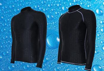 d6928a92d Los hombres de buceo de piel de tiburón stinger traje de manga larga  erupción protector de sol nadar surf camisa bañador UV UPF50 + windsurf baño  traje de ...
