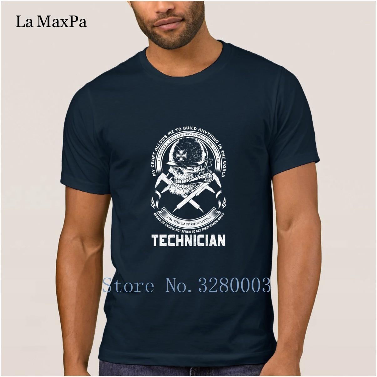Костюм забавная Мужская футболка техник я последний умирающего Мужская футболка весна узор футболка Мужчины Экипаж Средства ухода за коже...