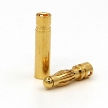 4MM Banana Plug 40A 7U Thick Gold Plating DIY Model Motor Adjustable Battery Plugs Connector Accessories KG16