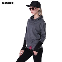 New Arrival Spring And Autumn Tracksuit Women Hoodies Sportwear Coats Patchwork Sleeve Moleton Feminino Women Sweatshirts