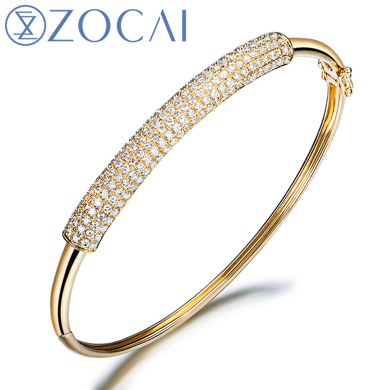 bracelet pav micropave bangle half de beers diamond one bangles oval row classic pave white micropav gold