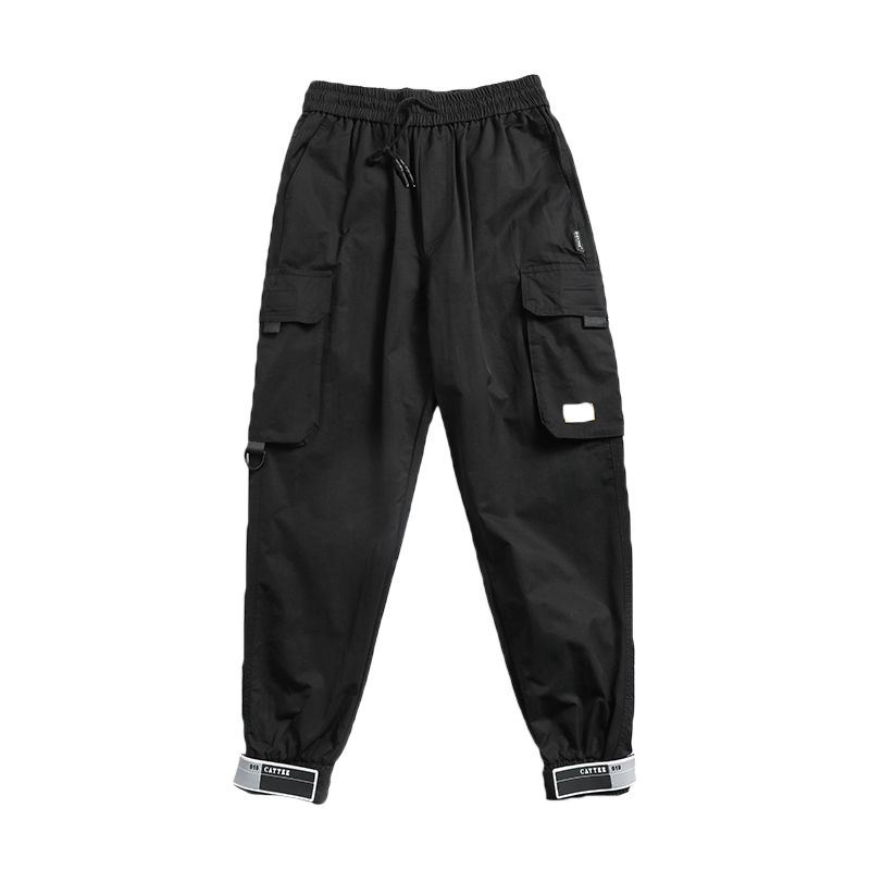 HTB1V3YGX7xz61VjSZFrq6xeLFXal - Pockets Cargo Pants Men Color Patchwork Casual Jogger Fashion Tactical Trousers Tide Harajuku Streetwear