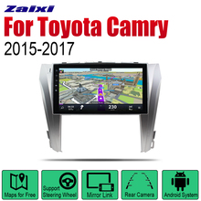 ZaiXi Auto Radio 2 Din Android Car Player For Toyota Camry 2015~2017 GPS Navigation BT Wifi Map Multimedia system Stereo idoing 10 2 ips 2 5d 4gb 64gb 1din android8 0 car radio multimedia gps player for toyota camry v55 2015 2017 8core fast boot