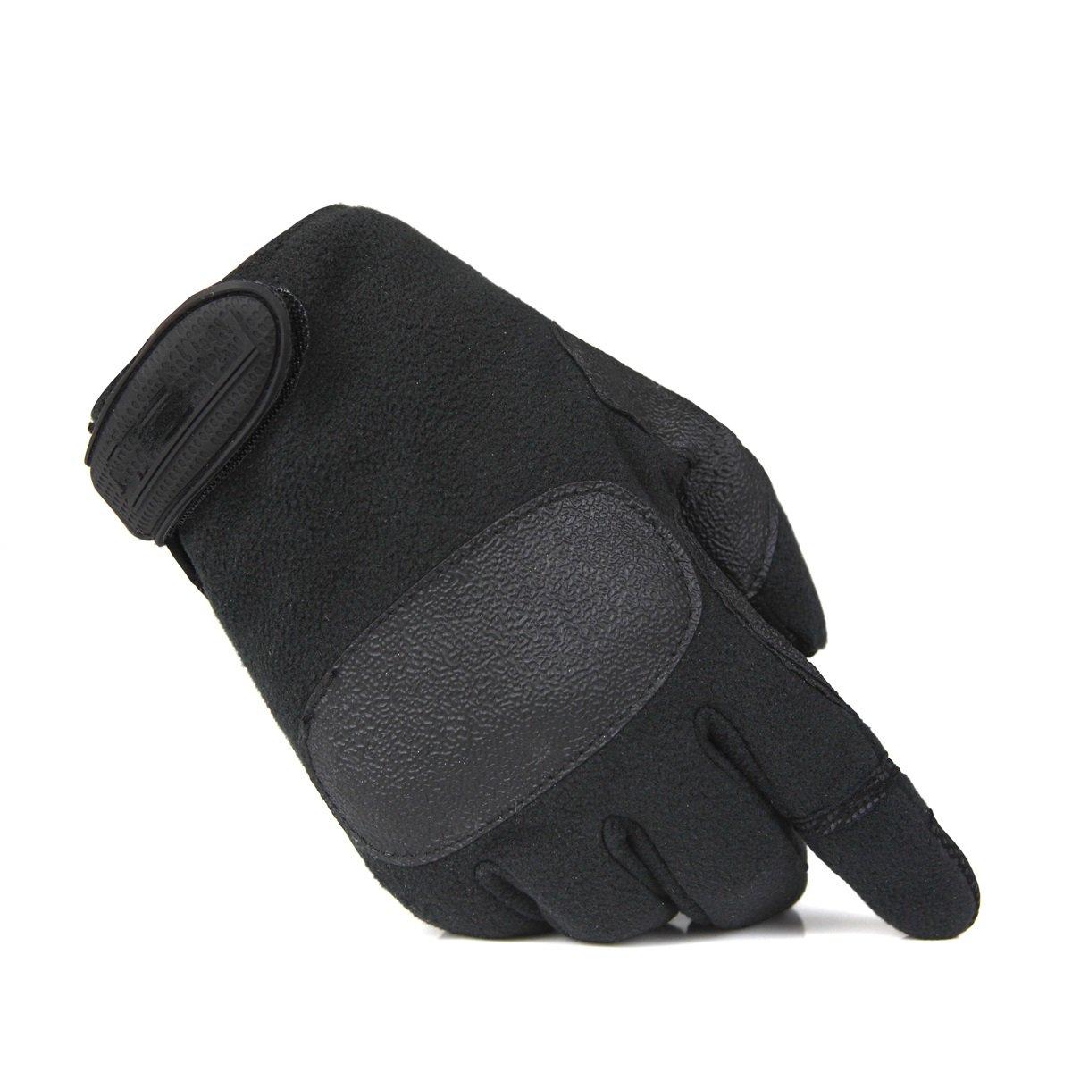 ФОТО Fleece anti-skid wear-resistant riding climbing climbing training full-finger gloves