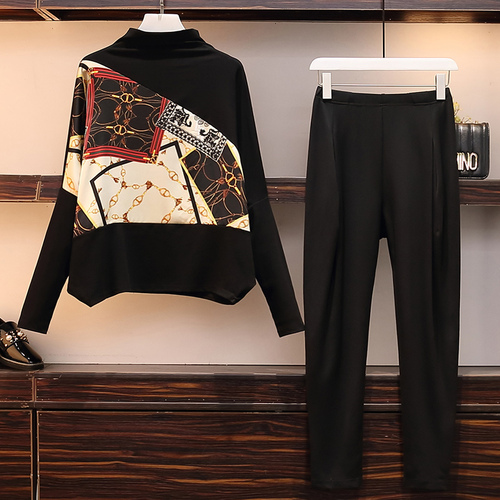 Anno Set Femmina Delle Insieme Nero Donne vecchia Pezzi Il Due Conjunto 5xl Femme Costume Plus New Size Spring Survêtement Tuta Feminino YwxAOvqZ