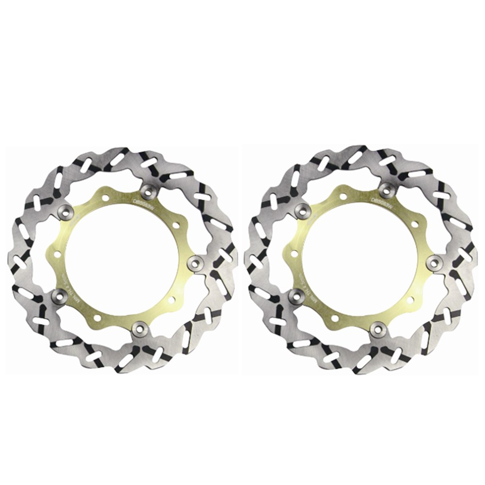 цены  2x Motorcycle Front Brake Rotors Disc Braking Disk for Yamaha YP400 MAJESTY ABS 2007-2011 XP 500 T-MAX 2004-2007 XP530 TMAX 2012