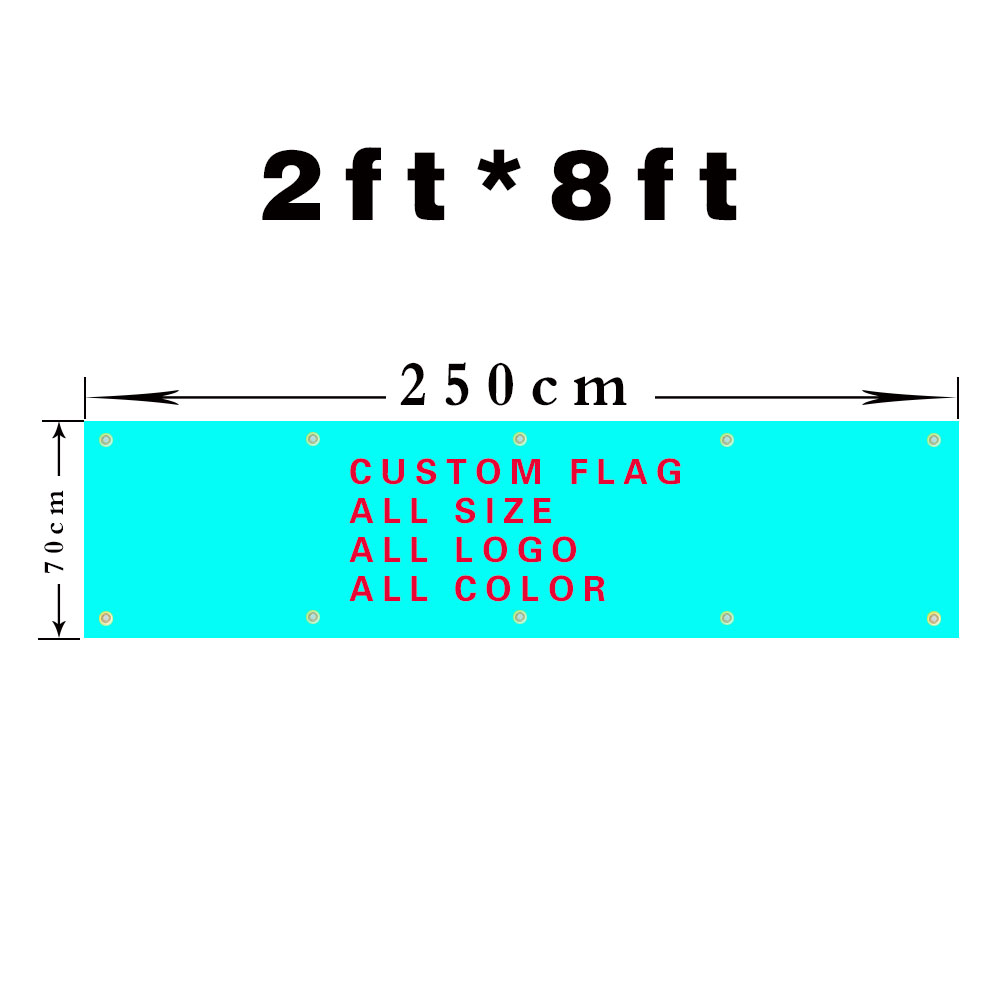 Custom flag 250cmX70cm  300cmX100cm 400/500cmX80cm100D Polyester custom banner all logos all colors all sizes flag banner