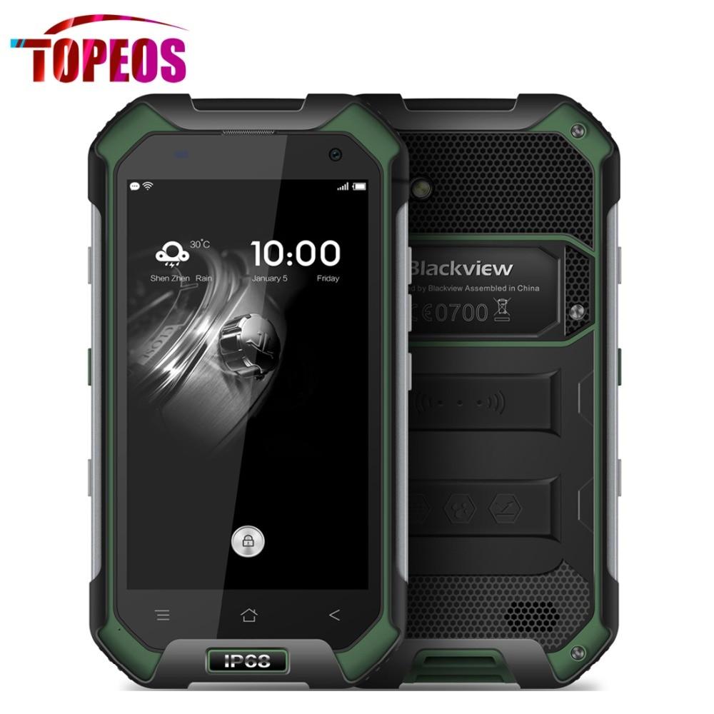 Цена за Оригинал Blackview BV6000 Мобильный Телефон IP68 Водонепроницаемый 4.7 дюймов MTK6755 Octa Ядро 4 Г LTE 3 ГБ RAM + 32 ГБ ROM 4500 мАч Android 6.0 GPS