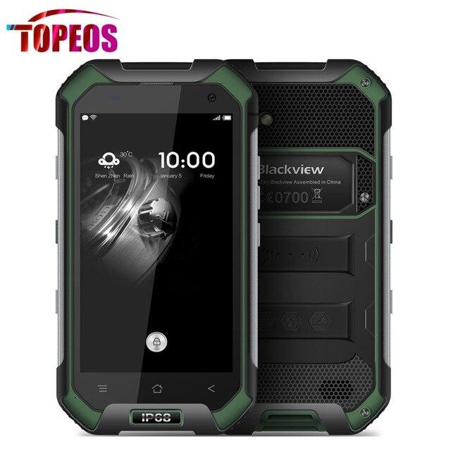 Original Blackview BV6000 Mobile Phone IP68 WaterProof 4.7inch MTK6755 Octa Core 4G LTE 3GB RAM+32GB ROM 4500mAh Android 6.0 GPS