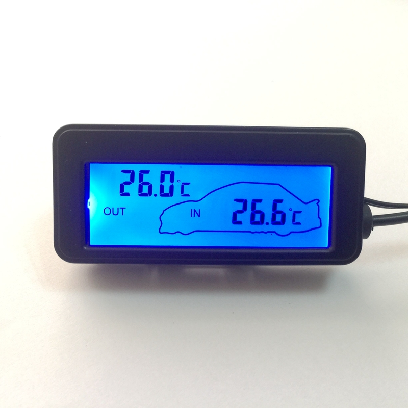 buy color lcd car digital thermometer mini 12v vehicles termometro monitor car