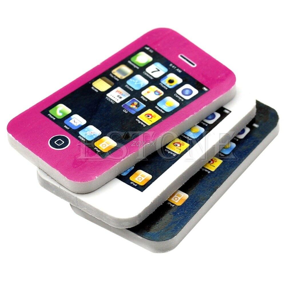 1 Pc Handy Geformt Studenten Schreibwaren Geschenk Spielzeug Gummi Nette Bleistift Radiergummi Drop Schiff Exquisite (In) Verarbeitung