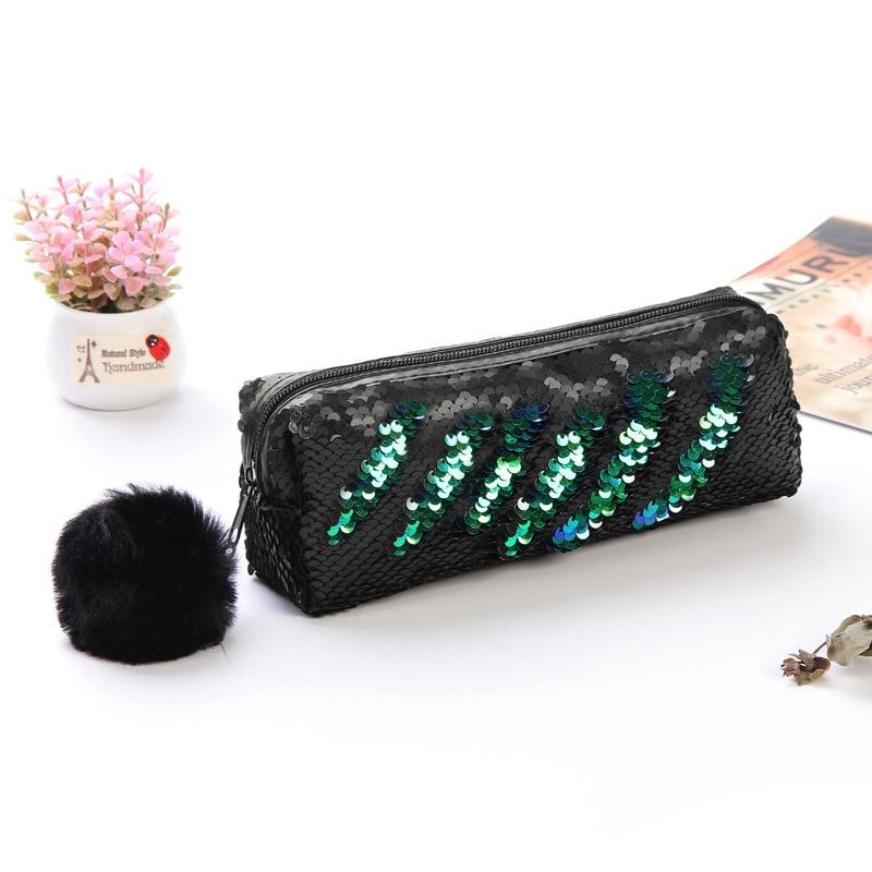 New Hair Ball Cosmetic Bag Multicolored Sequin Pen Sequins Purse monederos para mujer monedas 2019