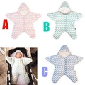 Infant Baby Sleeping Bag Small Starfish Winter Thicken Cotton Envelope In Wheelchair Slaapzak for child Girls Boys ROM020