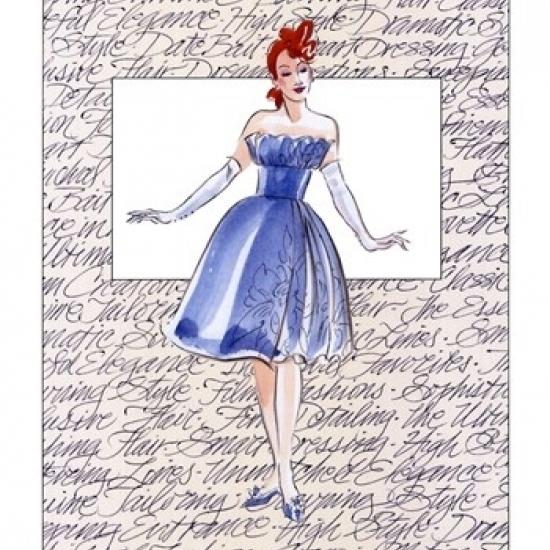 50's Fashion I Poster Print by Elissa Della-Piana (13 x 19)