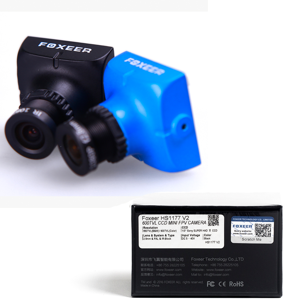 Ormino Foxeer XAT600M HS1177 V2 Mini FPV Camera 600TVL CCD 2.8MM Lens NTSC / PAL IR 5V-40V With Bracket for Fpv DIY Drone frame пазл мозайка larsen скотный двор 2 u10