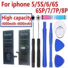 원래 4260 mAh iphone 6 배터리 3.8 V Li 이온 건전지 보충 iphone 5 5 s 6 6 s 7 수리 도구