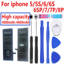 Oryginalny 4260 mAh dla iphone 6 bateria 3.8 V akumulator litowo jonowy wewnętrzny bateria zastępcza bateria do iphone 5 5S 6 6 s 7 z narzędzia do naprawy
