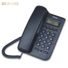 Английская Версия Call ID Стационарный Телефон Оптовая Домашний Офис Отель Без Батареи Принести Дисплей Питания Стационарный Телефон Черный