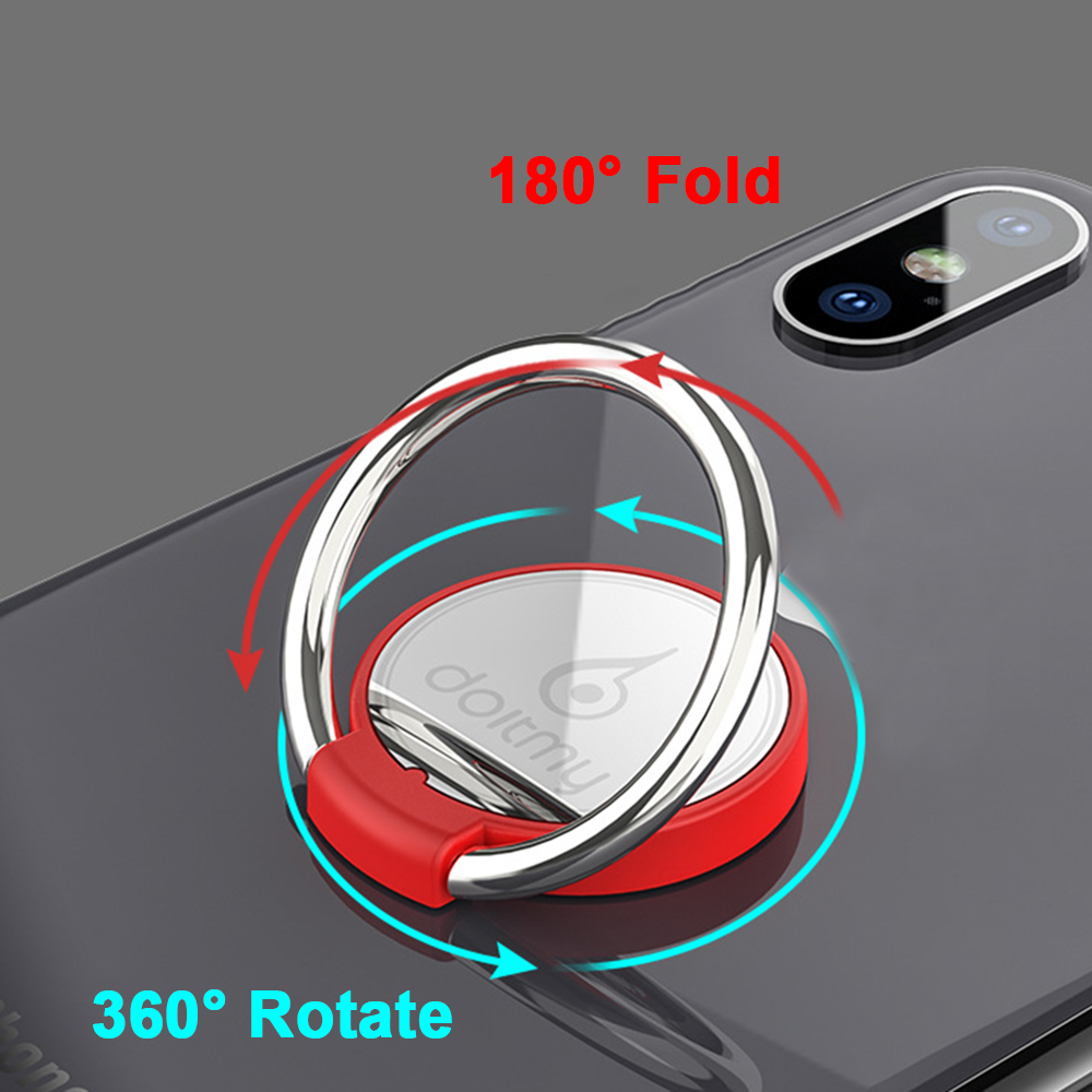 Mobile Phone Stand Support Phone Stand Magnet Finger Ring 360 Degree Rotate Mirror Ring Holds Cell Phone Bracket For Iphone XR