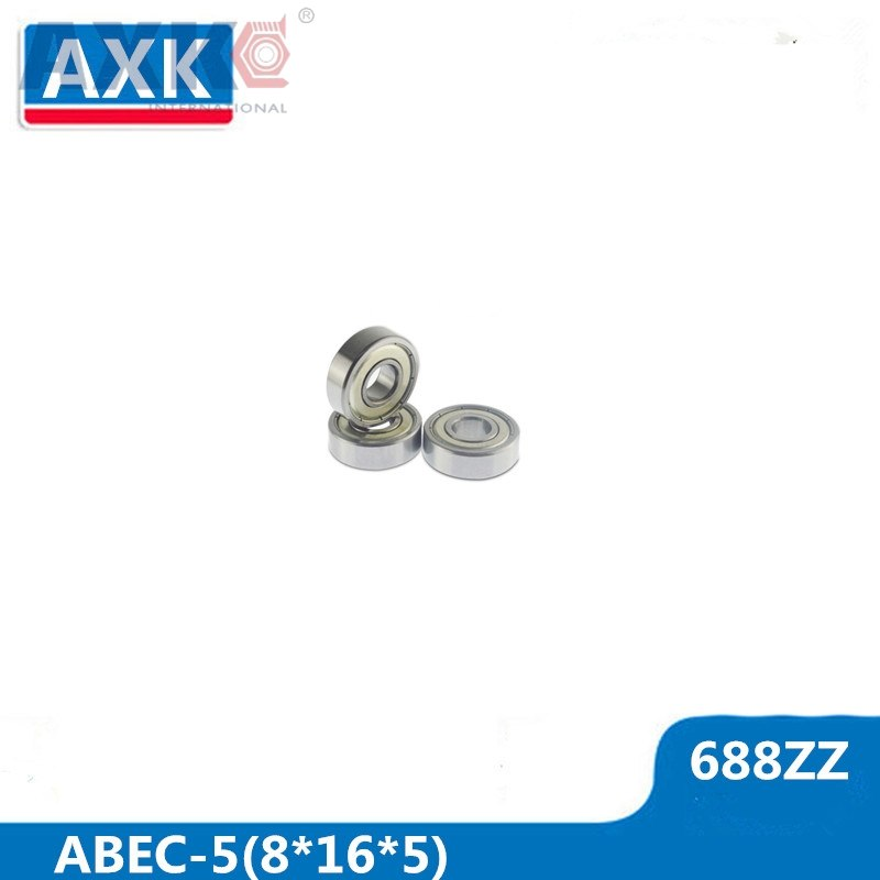 AXK 688ZZ Bearing ABEC-5 10PCS 8x16x5 Mm Miniature 688Z Mini Ball Bearings 618/8ZZ EMQ Z3 V3 Quality 688 ZZ