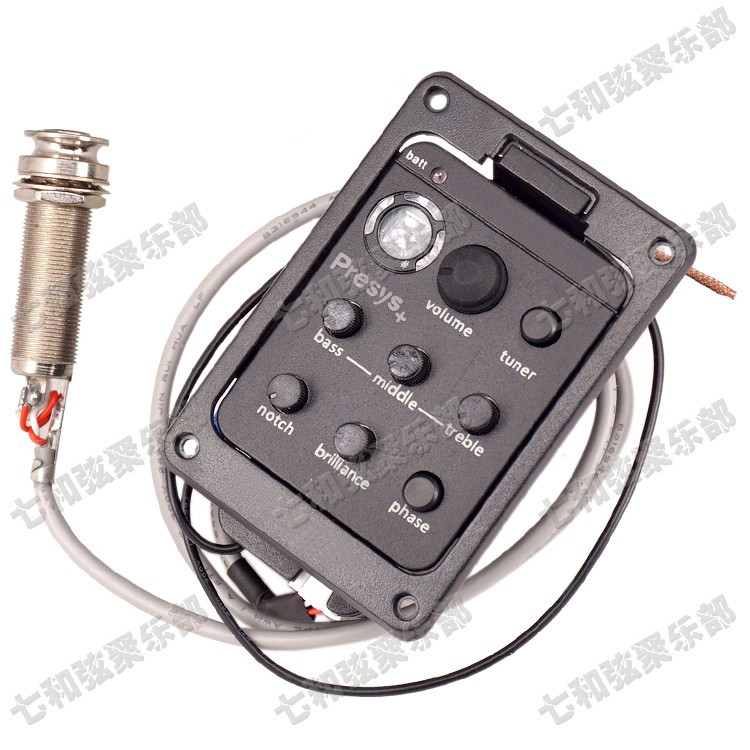 201 Dual Mode Guitar tuner Preamp EQ Tuner Piezo Pickup Equalizer System With Mic Beat guitar parts Board In Stock