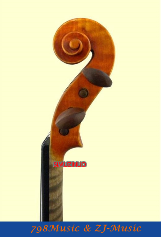 D2 beginner Violin 4/4 Maple Violino Antique matt High-grade Handmade acoustic violin fiddle case bow rosin image