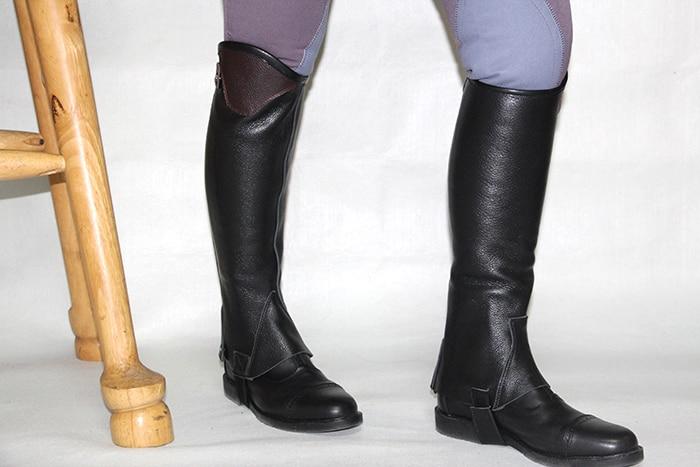 Высокое качество, наполовину, наездники, кожаные, для верховой езды, для мужчин, для женщин и детей