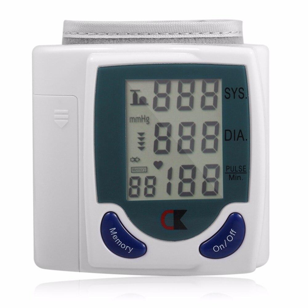 Numérique LCD Manchette Bras Poignet Moniteur de Tension Artérielle Compteur Soins de Santé Des Ménages En Bonne Santé Heart Beat Pouls Mesure Machine