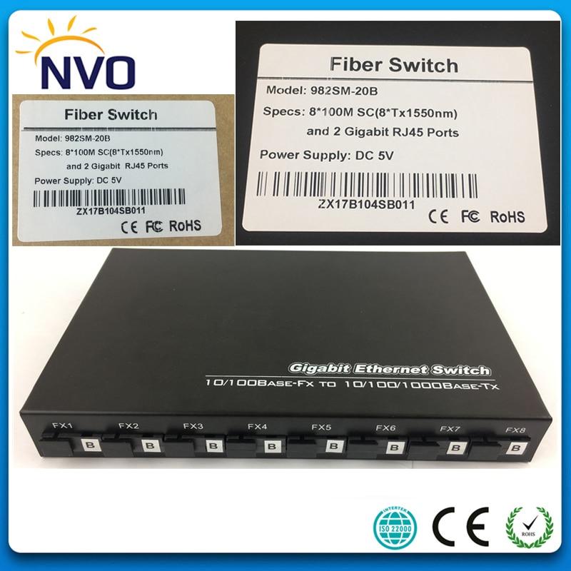 5pcs/Lot,10/100M,SM,SX,20KM,8B,Single Mode,Simplex,SC Port+2 port 10/100/1000 RJ45,Unmanaged Ethernet Optical Fiber Switch5pcs/Lot,10/100M,SM,SX,20KM,8B,Single Mode,Simplex,SC Port+2 port 10/100/1000 RJ45,Unmanaged Ethernet Optical Fiber Switch