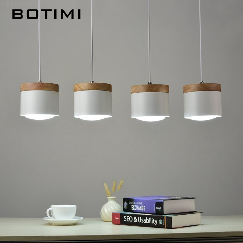 Botimi Fashion LED Pendant Lights With Wooden Metal Lampshade Lamparas Colgantes Modern Nordic Hanging Lamp For Dining Kitchen tiffany mediterranean sea style natural shell lampshade pendant lights led lamparas colgantes lustre vintage lamp hanging lamps