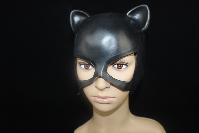 1 piecelot new black color eco friendly latex sexy catwoman mask party costume pretend display masks in party masks from home garden on aliexpresscom