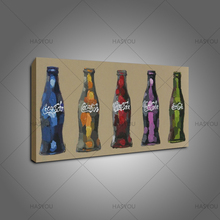 100% Hand-Painted Abstract Modern Oil Painting On Canvas coca cola Picture Wall Decoration For Dining Room bar Decor Art