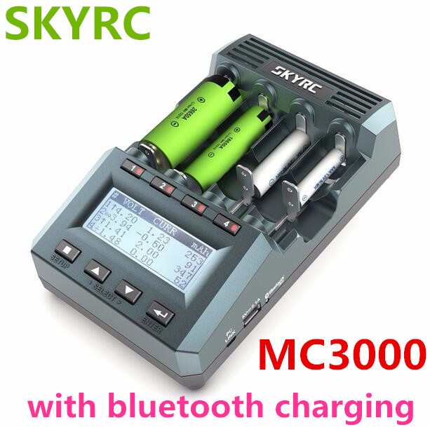 SkyRC MC3000 Bluetooth Charger With Cylindrical Battery Charging By Phone For Ni-MH Nickel-Nickel-Zinc Battery Charging
