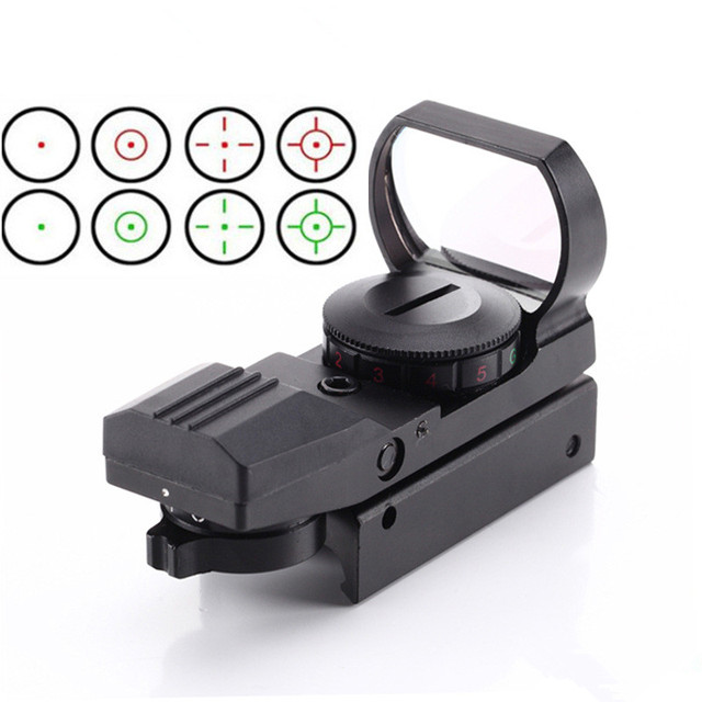 Hot 20mm Rail Riflescope Hunting Optics Holographic Red Dot Sight Reflex 4 Reticle Tactical Scope Hunting toys Gun Accessories