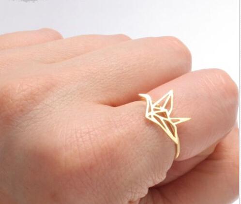 Geometric Origami Bird Ring