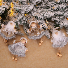 Christmas New Cute Angel Santa Doll Decoration Pendant Creative Tree Ornaments For Home