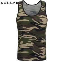 Camouflage Tank Tops Mens Tight Bottoming Undershirt Sporting Wear Singlet Bodybuilding Fitness Exercise Vest Sleeveless Shirt