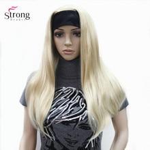 Strong beauty perruque synthétique sans capuchon et lisse, coiffure naturelle Blonde et noire pour femmes