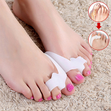 5 Pairs Silica Gel Soft Feet Toe Protector Bunion Corrector Big Toe Separators Straightener Shoes Foot Care Toe Pads(White)