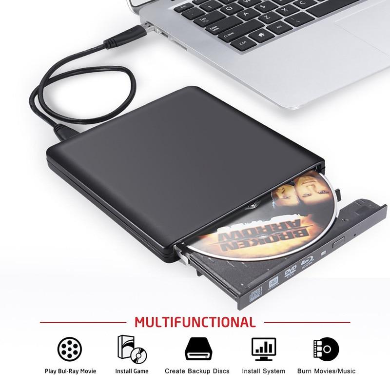 Graveur Bluray Écrivain BD-RW USB 3.0 Externe Lecteur DVD Portatil Blu ray Lecteur CD/DVD RW Lecteur Optique pour hp Ordinateurs Portables