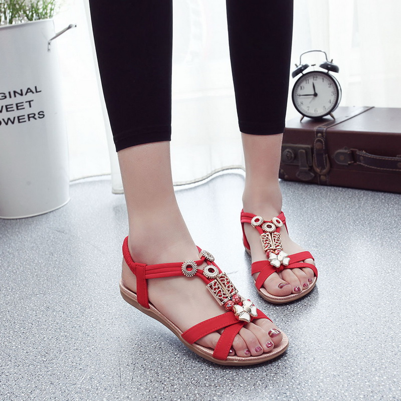 WENYUJH Bohemian Flat Sandals Peep Toe Women Sandals Summer Beach Classic Sandals 2019 New Women Shoes Vintage Ladies SlippersWENYUJH Bohemian Flat Sandals Peep Toe Women Sandals Summer Beach Classic Sandals 2019 New Women Shoes Vintage Ladies Slippers