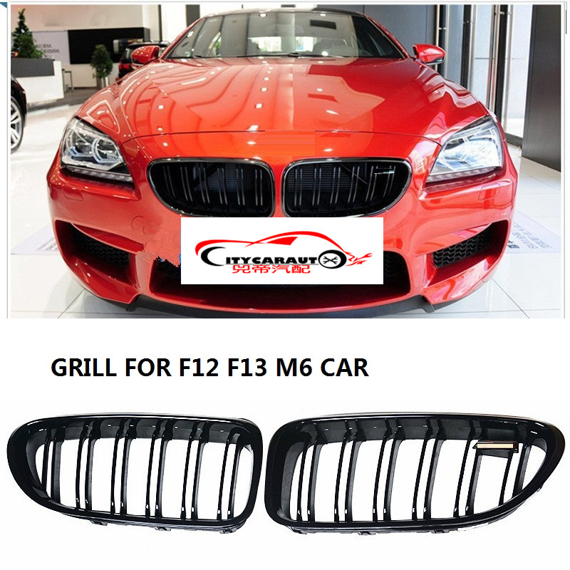 CITYCARAUTO high quality Racing grill grille ABS black front trim Replacement Grill Raptor fit for BWM F12 F13 640i 640d 650i M6 high quality abs chrome 2pcs up grill trim lower grill trim grill decoration trim grill streamer for honda city 2015 216
