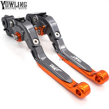 High Quality CNC Motorcycle Adjustable Brakes Clutch Levers Orange Fit For KTM Duke 125 200 390 RC390 2014-2016 2017 2018 2019
