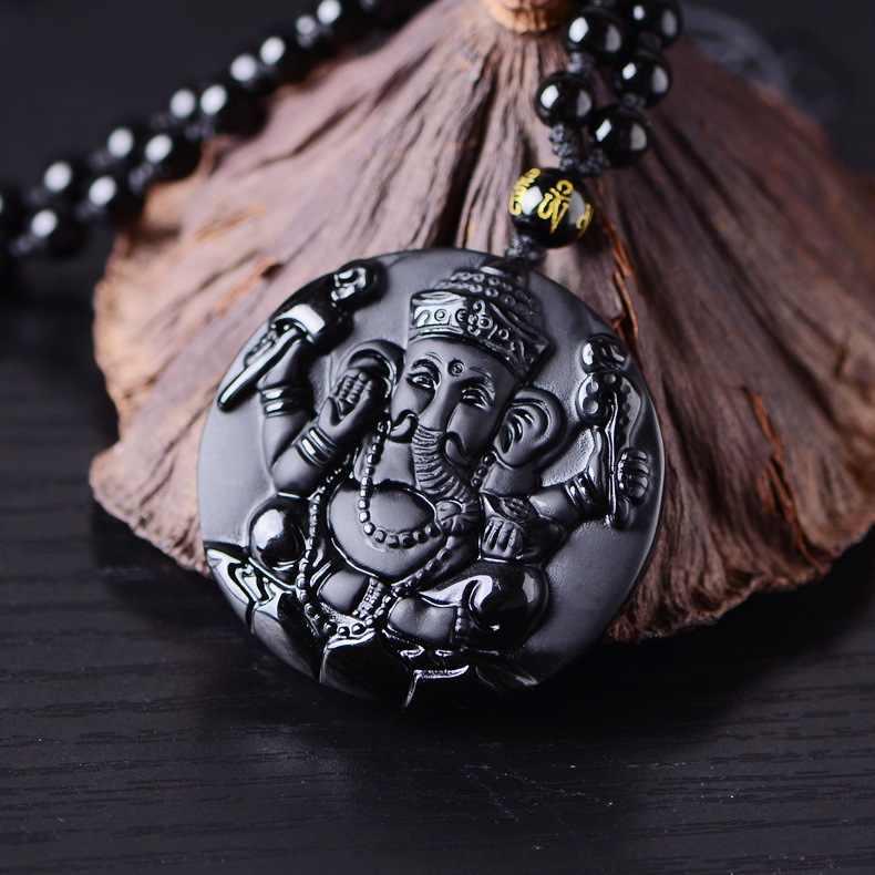 חם למכור באיכות גבוהה טבעי אובסידיאן אבן פיל תליון שרשרת בעלי החיים שרשרת סוודר שרשרת Jades תכשיטים