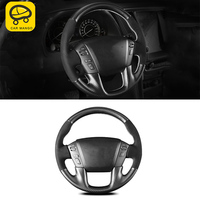 CAR MANGO For Nissan Patrol Y62 Auto Car styling sewing steering wheel cover trim Stickers Covers Interior Accessories