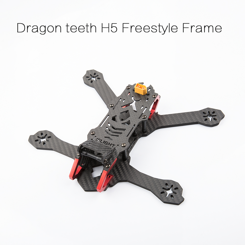 iFlight Dragon Teeth H5 5 inch 220mm Low Ride FPV Freestyle Frame Kit Compatible with HS1177 Mini FPV Camera and 2205/2206 Motor ride the dragon 38