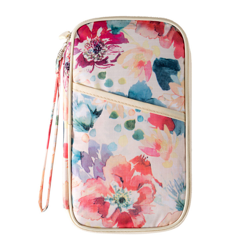 Printing Passport Cover Travel Boarding Coin Wallets ID Credit Business Card Holders Key Storage Organizer Bag Accessories