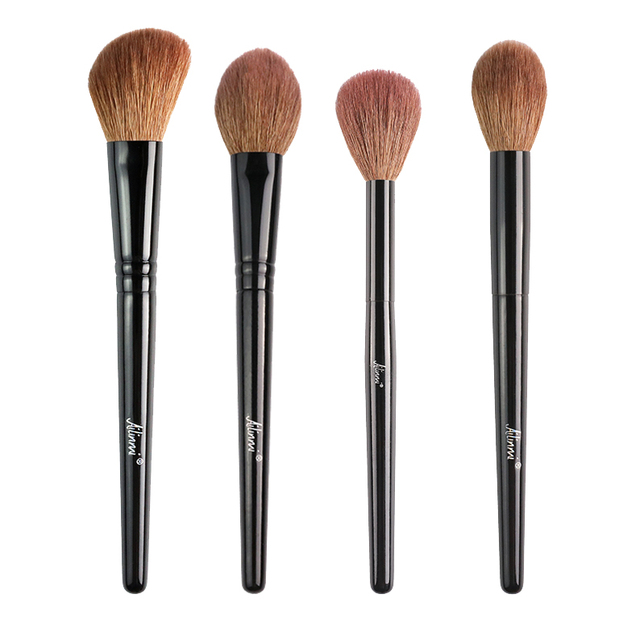 Ailinmi WG-SERIES Face Brushes - Fluffy-Cheek 14 Tapered-Face 21 Angled-Contour 22 Tapered-Highlight 23 - Makeup Blending Tools 1