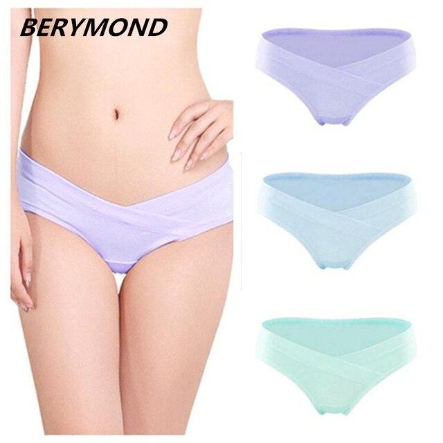 5f6481861fa1f 3 Pcs Lot Cotton Pregnant Women Underwear U-Shaped Low Waist Maternity Women  Short Panties Pregnancy Women Briefs Clothing